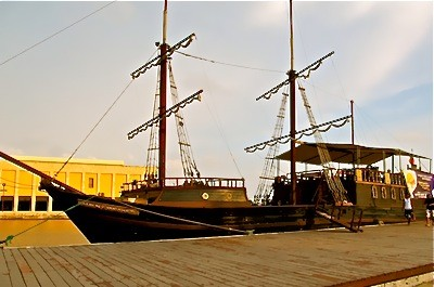 Old Ship in Cartagena Colombia