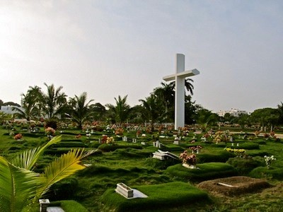 Beautiful Cemetary to the South of Cartagena