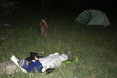Camping near Popallacta Ecuador