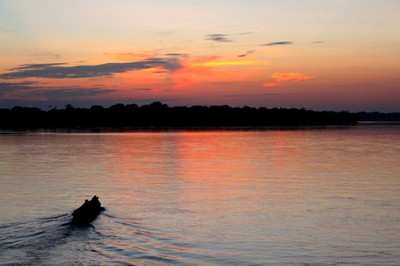 A beautiful sunset on the Rio Napo