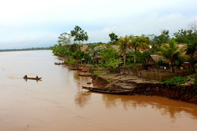 A typical Amazonian village