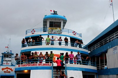 Our Boat from Iquitos to Yurimaguas