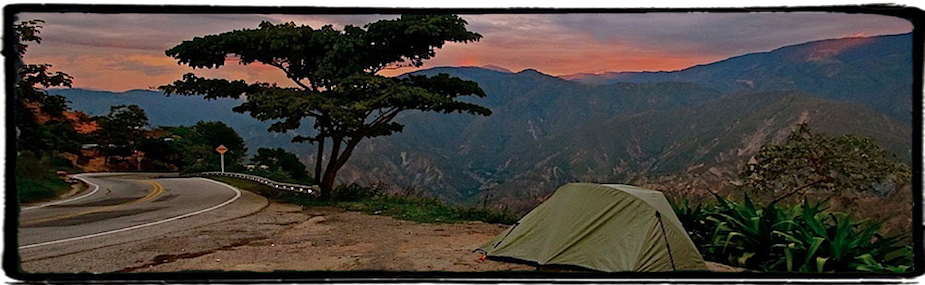 Camping in Chicamocha Canyon